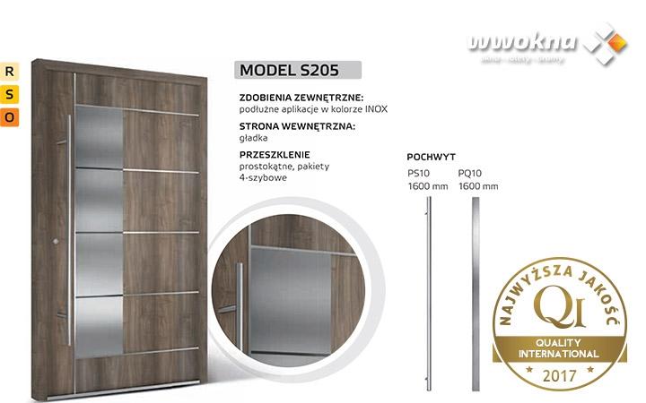 Drzwi zewnętrzne Krispol Solano model S205