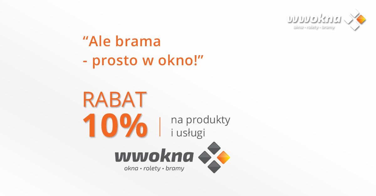 Nagroda w konkursie WW Okna Wrocław - bony rabatowe