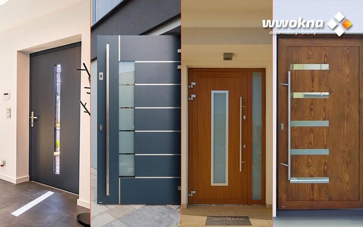 Nowoczesne drzwi wejściowe Krispol, różne modele i kolory