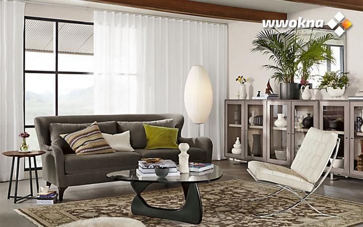 Białe zasłony Moderno