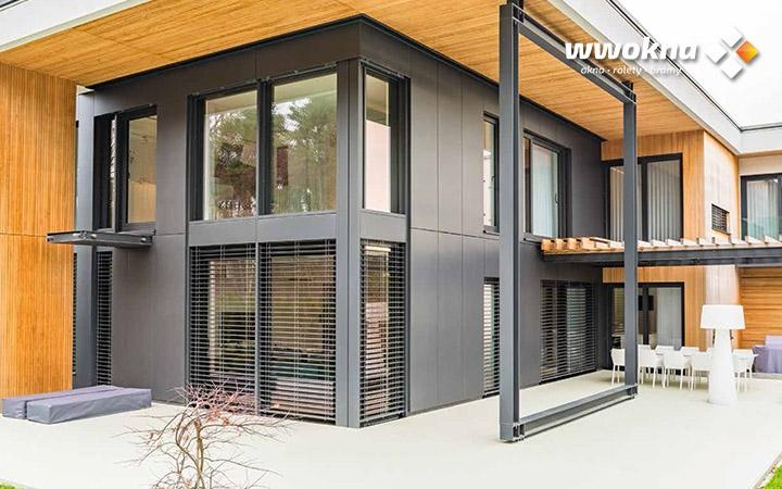 Żaluzje fasadowe Krispol w nowoczesnym domu